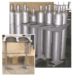 Floor Mount Cylinder Racks